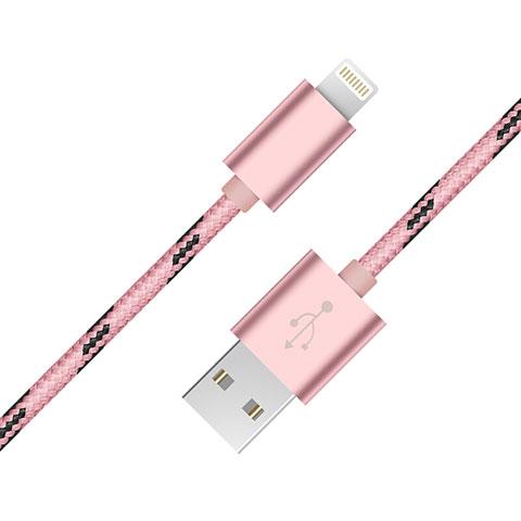 USB Ladekabel Kabel L10 für Apple iPhone 11 Rosa