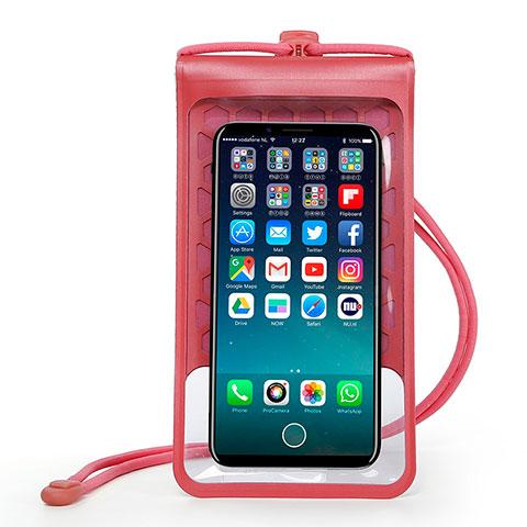Wasserdicht Unterwasser Handy Tasche Universal W15 Rot