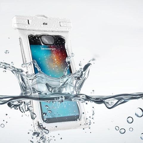 Wasserdicht Unterwasser Schutzhülle Tasche Universal Weiß