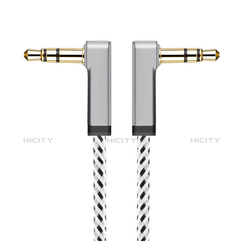 Audio Stereo 3.5mm Klinke Kopfhörer Verlängerung Kabel auf Stecker A13 Silber groß