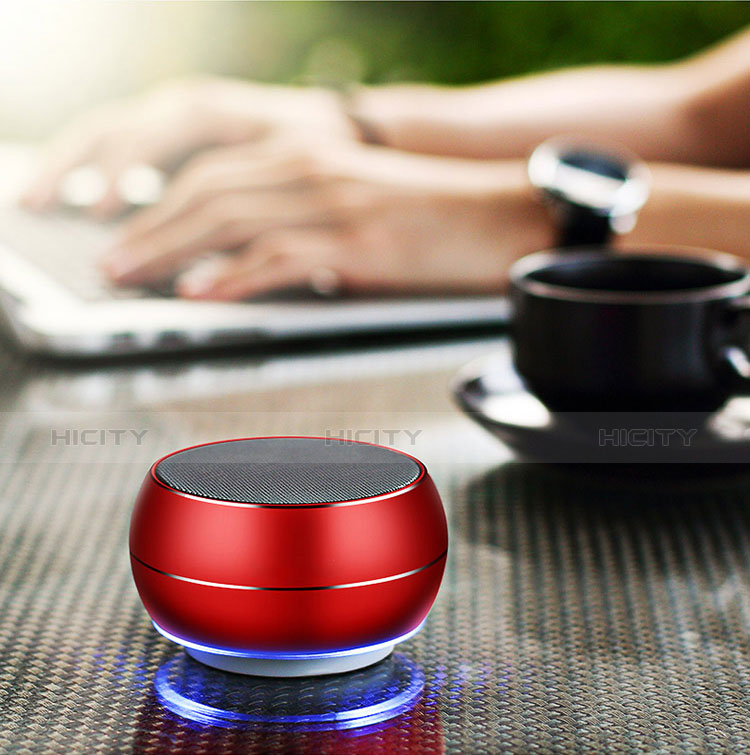 Bluetooth Mini Lautsprecher Wireless Speaker Boxen Rot groß