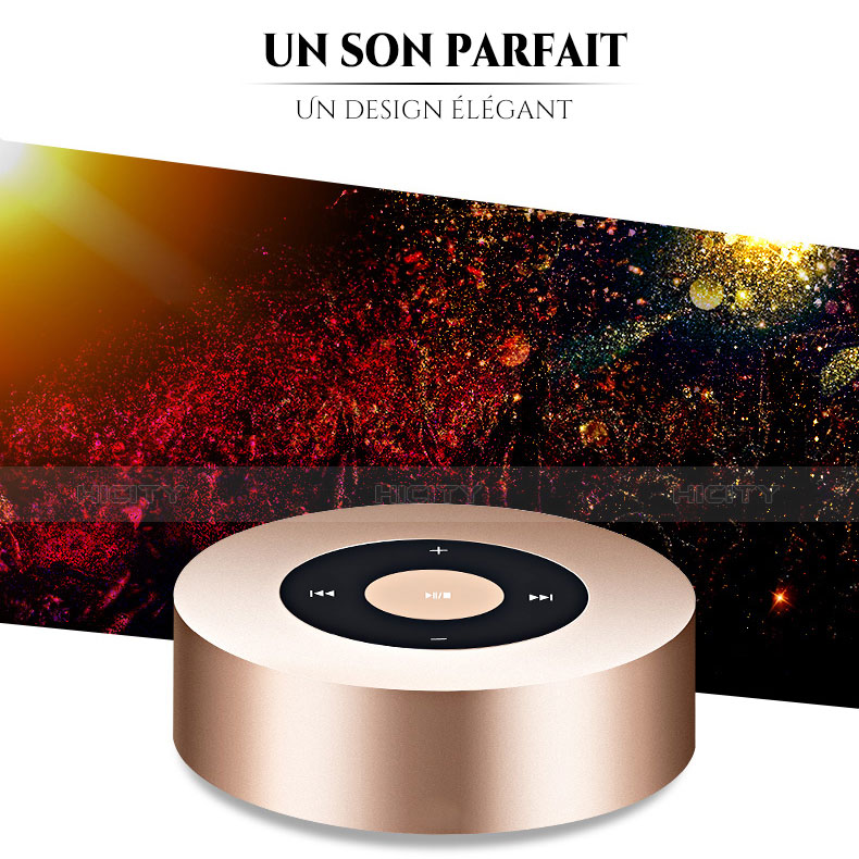 Bluetooth Mini Lautsprecher Wireless Speaker Boxen S07 Gold groß