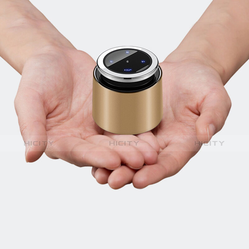 Bluetooth Mini Lautsprecher Wireless Speaker Boxen S26 Gold groß