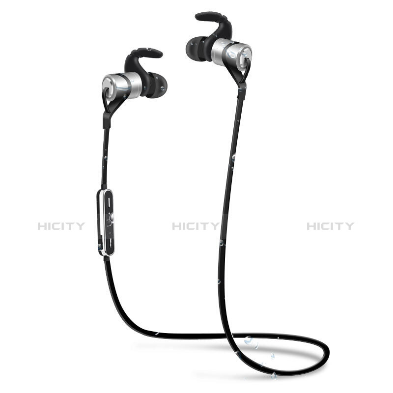 Bluetooth Wireless Stereo Ohrhörer Sport Kopfhörer In Ear Headset H50 Silber groß