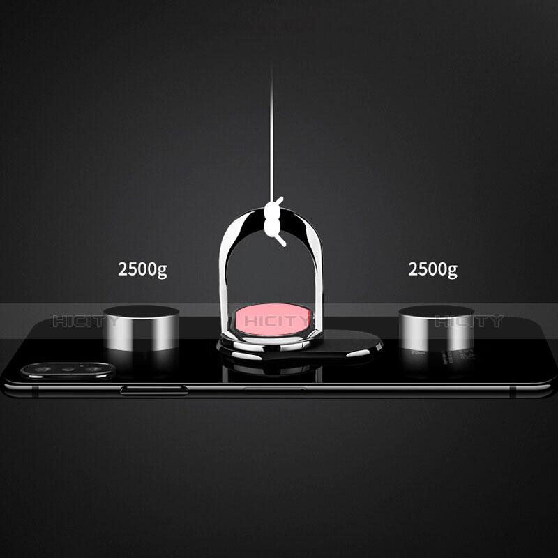 Fingerring Ständer Smartphone Halter Halterung Universal R07 Rosa groß
