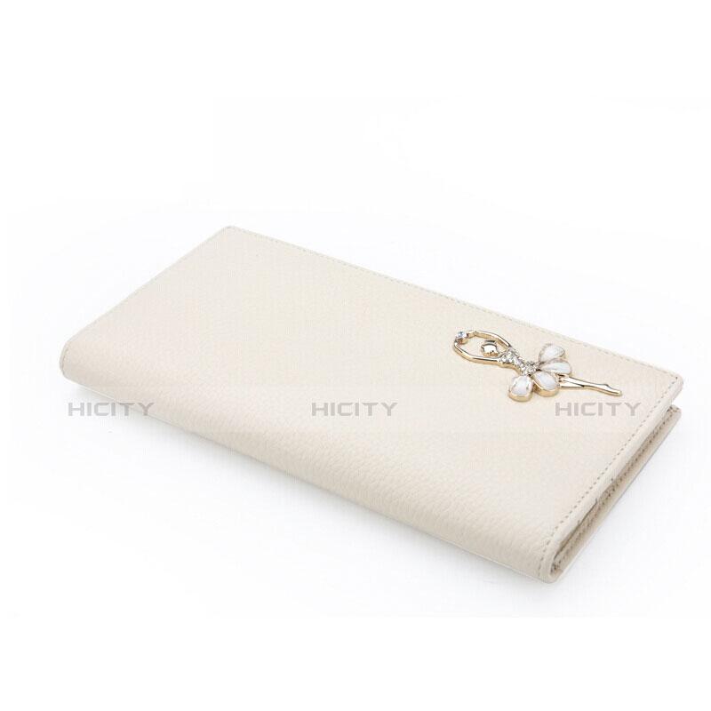 Handtasche Clutch Handbag Schutzhülle Leder Dancing Girl Universal Weiß Plus