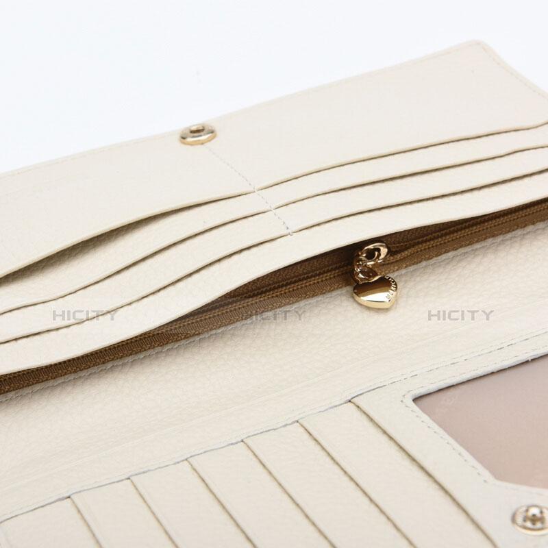 Handtasche Clutch Handbag Schutzhülle Leder Dancing Girl Universal Weiß groß