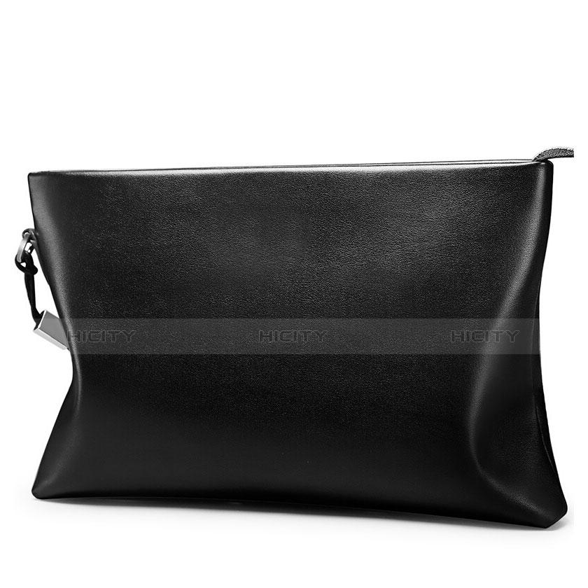 Handtasche Clutch Handbag Schutzhülle Leder Universal H01 Schwarz Plus