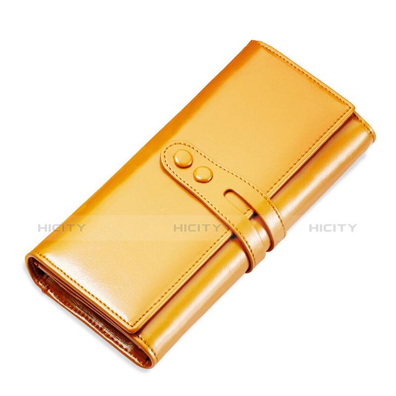 Handtasche Clutch Handbag Schutzhülle Leder Universal H14 Gold Plus