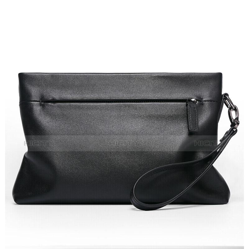 Handtasche Clutch Handbag Schutzhülle Leder Universal H20 Schwarz groß