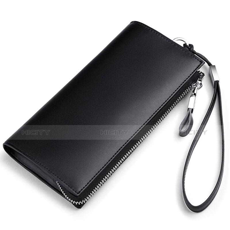 Handtasche Clutch Handbag Schutzhülle Leder Universal H34 Schwarz Plus