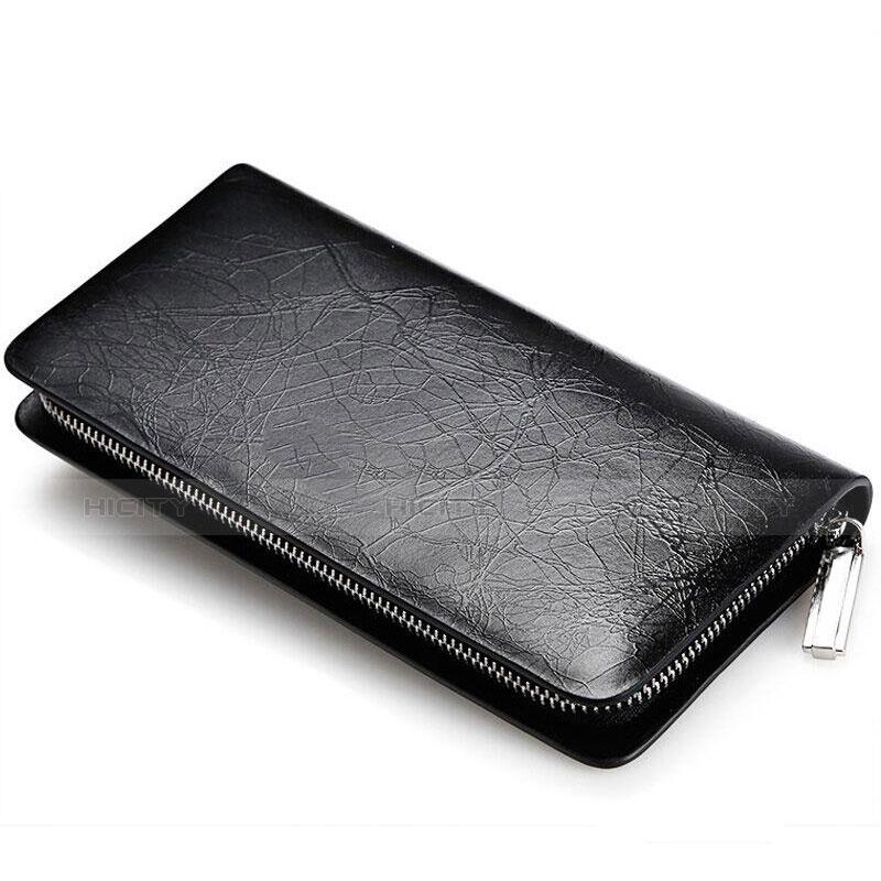 Handtasche Clutch Handbag Schutzhülle Leder Universal H39 Schwarz Plus