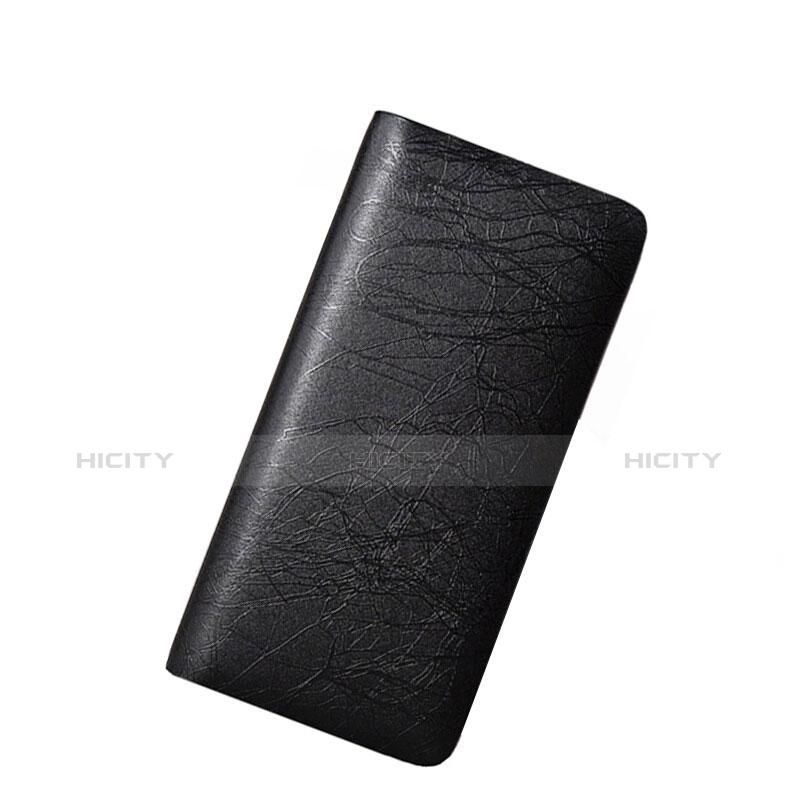 Handtasche Clutch Handbag Schutzhülle Leder Universal H39 Schwarz groß