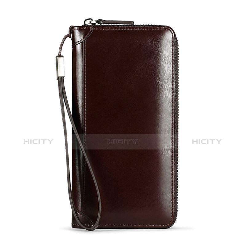 Handtasche Clutch Handbag Tasche Leder Universal H11 Braun Plus
