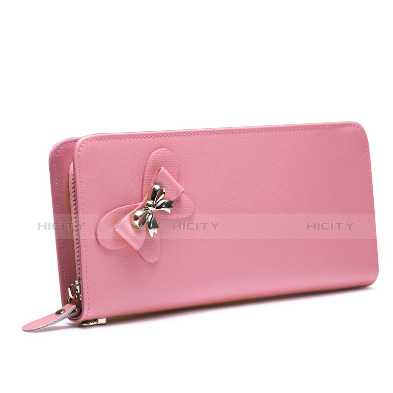 Handtasche Clutch Handbag Tasche Leder Universal Rosa groß
