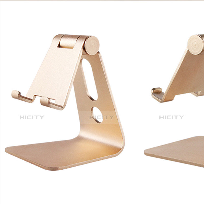 Handy Ständer Smartphone Halter Halterung Stand Universal T08 Gold groß