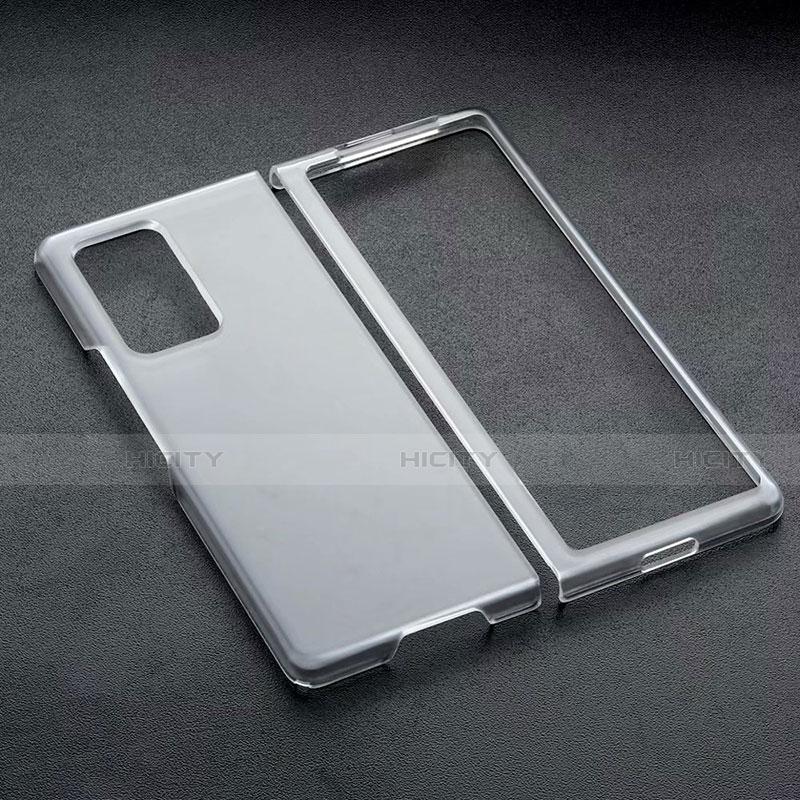 Handyhülle Hülle Crystal Schutzhülle Tasche für Samsung Galaxy Z Fold2 5G Schwarz Plus