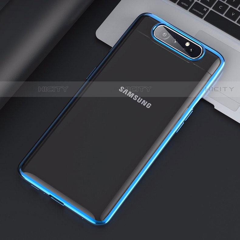 Handyhülle Hülle Crystal Tasche Schutzhülle H01 für Samsung Galaxy A80 groß