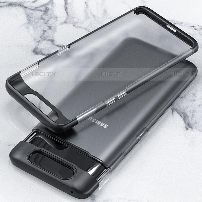 Handyhülle Hülle Crystal Tasche Schutzhülle H02 für Samsung Galaxy A80 Schwarz Plus