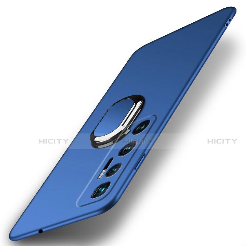 Handyhülle Hülle Hartschalen Kunststoff Schutzhülle Tasche Matt mit Magnetisch Fingerring Ständer A01 für Xiaomi Mi 10 Ultra Blau Plus