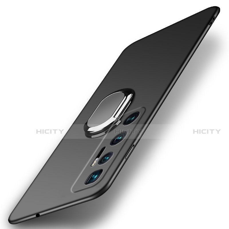 Handyhülle Hülle Hartschalen Kunststoff Schutzhülle Tasche Matt mit Magnetisch Fingerring Ständer A01 für Xiaomi Mi 10 Ultra Schwarz Plus