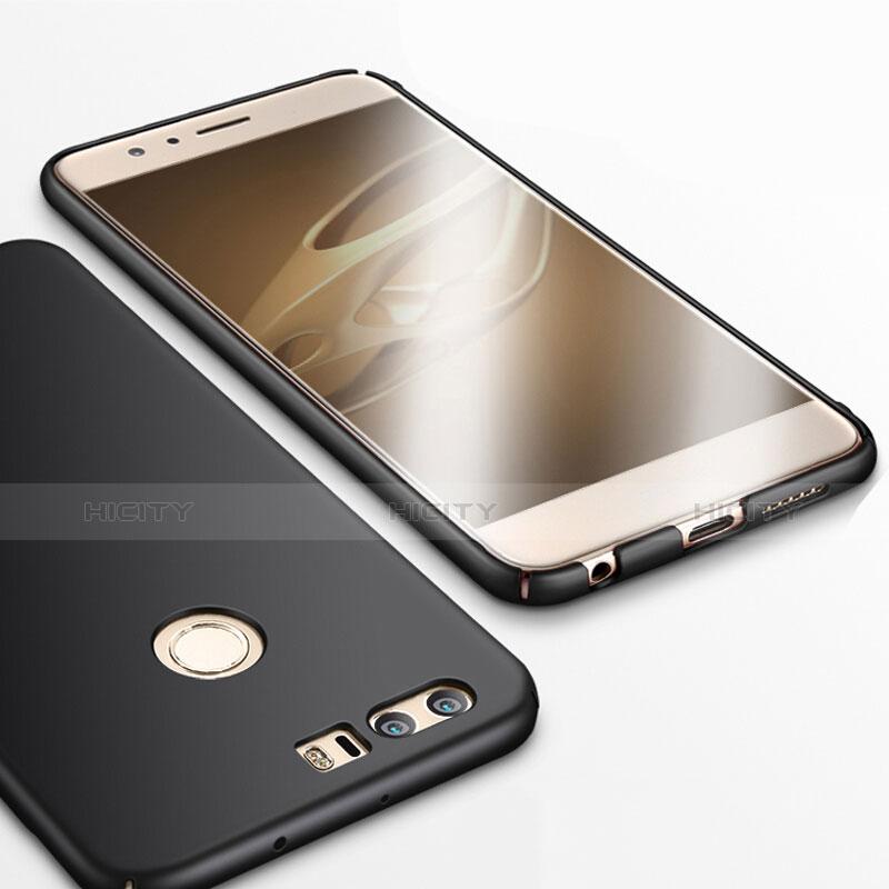 Handyhülle Hülle Kunststoff Schutzhülle Matt für Huawei Honor 8 Schwarz groß