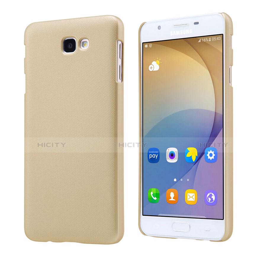 Handyhülle Hülle Kunststoff Schutzhülle Matt für Samsung Galaxy J7 Prime Gold Plus
