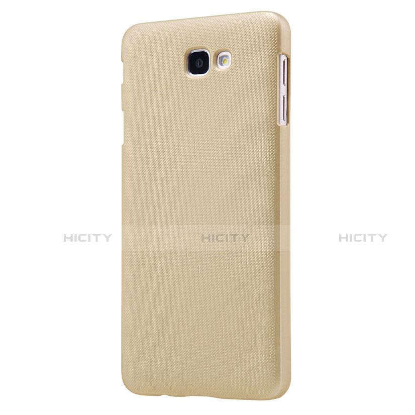 Handyhülle Hülle Kunststoff Schutzhülle Matt für Samsung Galaxy J7 Prime Gold groß
