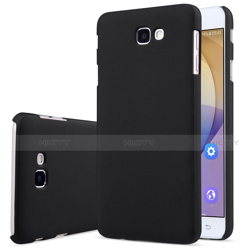 Handyhülle Hülle Kunststoff Schutzhülle Matt für Samsung Galaxy J7 Prime Schwarz Plus