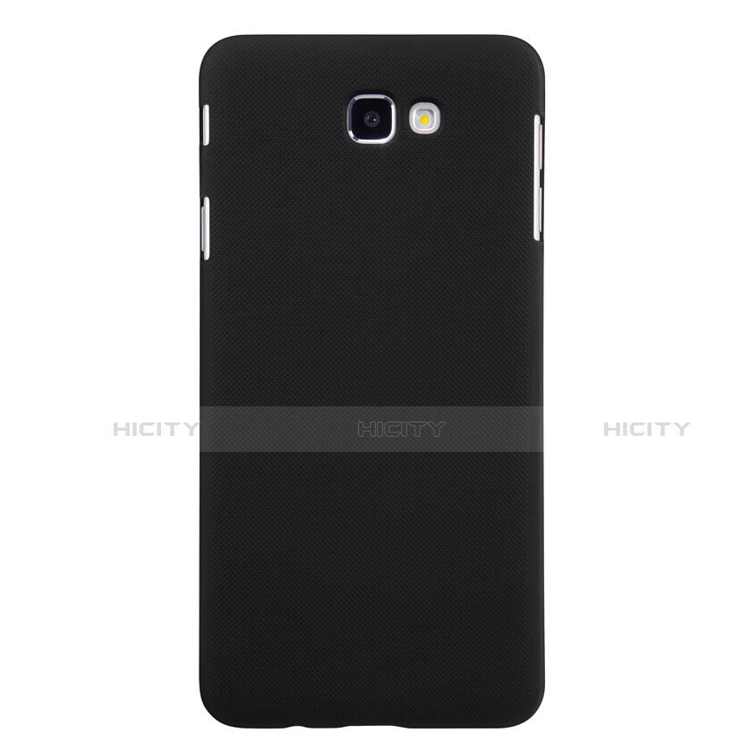 Handyhülle Hülle Kunststoff Schutzhülle Matt für Samsung Galaxy J7 Prime Schwarz groß