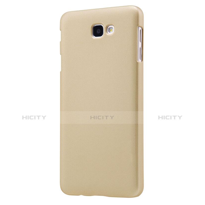 Handyhülle Hülle Kunststoff Schutzhülle Matt für Samsung Galaxy On7 (2016) G6100 Gold groß