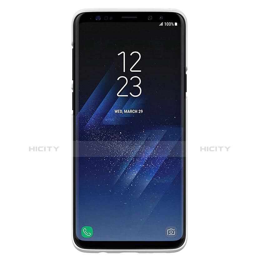 Handyhülle Hülle Kunststoff Schutzhülle Matt M02 für Samsung Galaxy S9 Plus Weiß groß