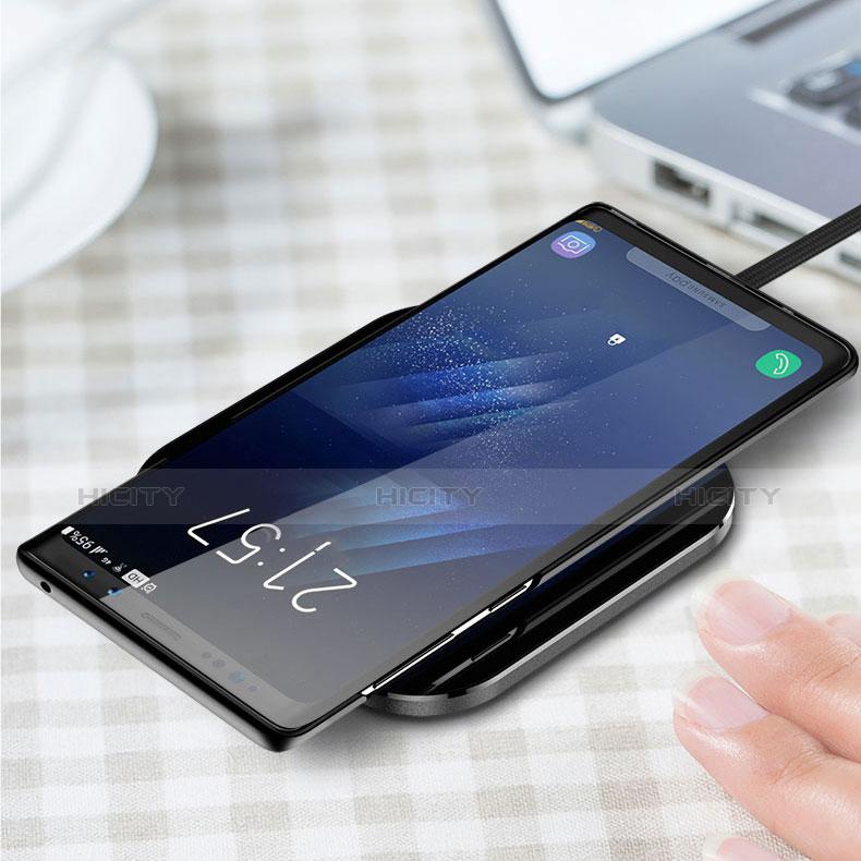 Handyhülle Hülle Kunststoff Schutzhülle Matt M03 für Samsung Galaxy Note 9 Schwarz groß