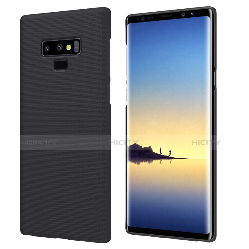 Handyhülle Hülle Kunststoff Schutzhülle Matt M04 für Samsung Galaxy Note 9 Schwarz Plus