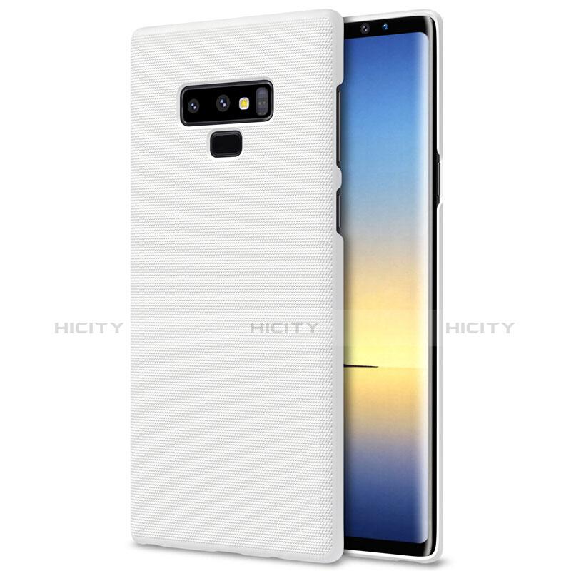 Handyhülle Hülle Kunststoff Schutzhülle Matt M04 für Samsung Galaxy Note 9 Weiß groß