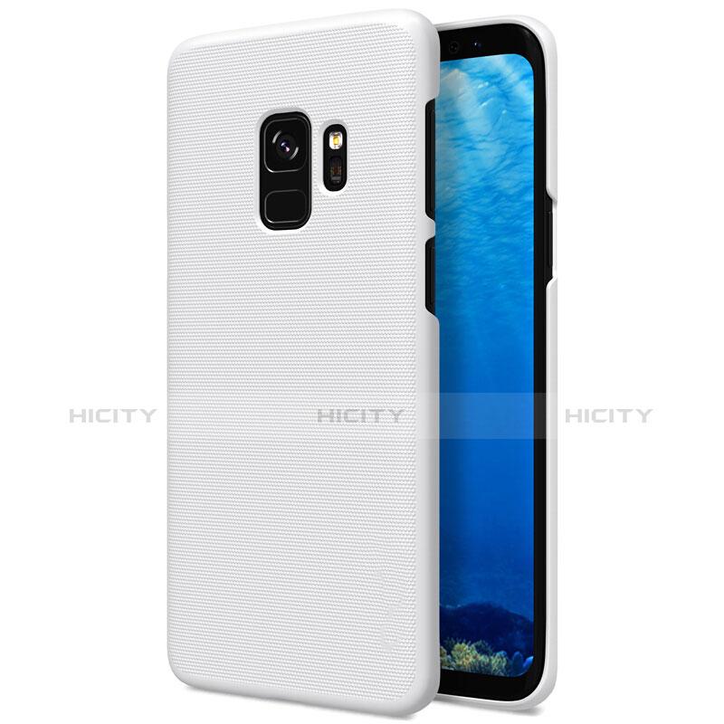 Handyhülle Hülle Kunststoff Schutzhülle Matt M09 für Samsung Galaxy S9 Weiß Plus