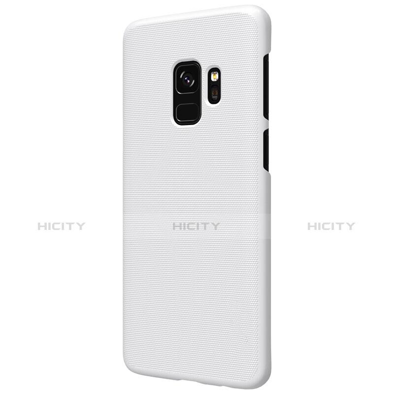 Handyhülle Hülle Kunststoff Schutzhülle Matt M09 für Samsung Galaxy S9 Weiß groß