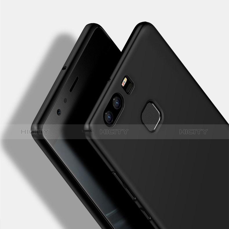 Handyhülle Hülle Kunststoff Schutzhülle Matt M11 für Huawei P9 Schwarz groß
