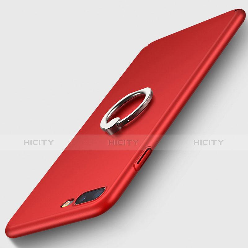 Handyhülle Hülle Kunststoff Schutzhülle Matt mit Fingerring Ständer R02 für Apple iPhone Xs Max Rot Plus