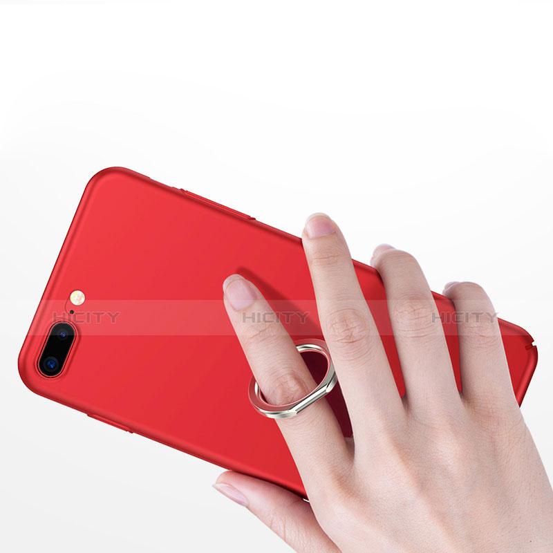 Handyhülle Hülle Kunststoff Schutzhülle Matt mit Fingerring Ständer R02 für Apple iPhone Xs Max Rot groß