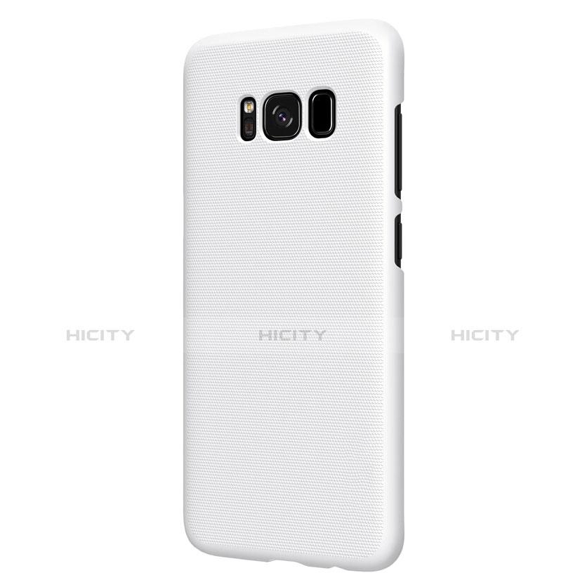 Handyhülle Hülle Kunststoff Schutzhülle Matt P01 für Samsung Galaxy S8 Weiß groß