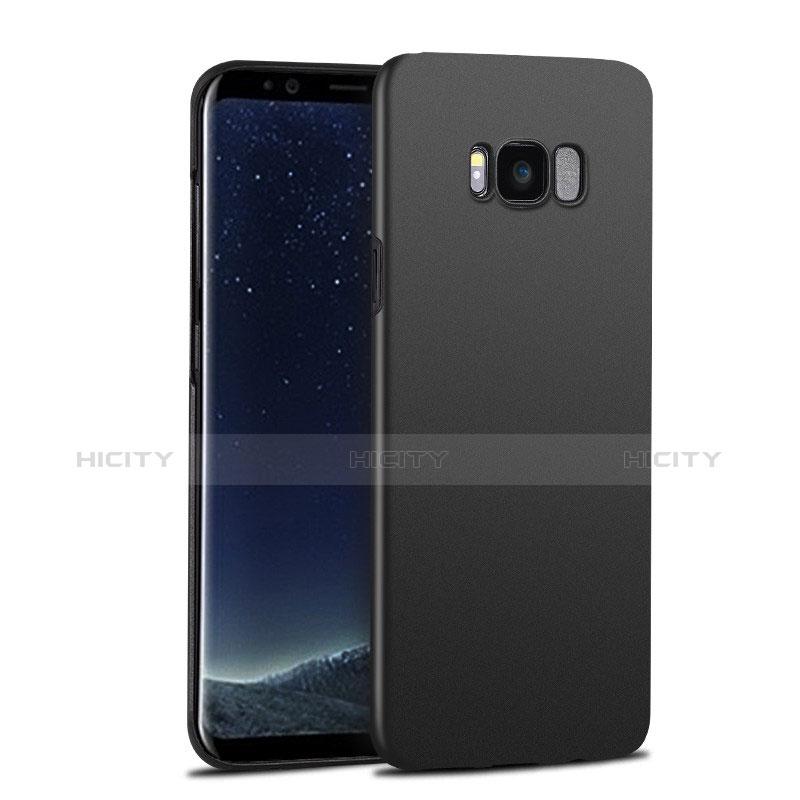 Handyhülle Hülle Kunststoff Schutzhülle Matt P02 für Samsung Galaxy S8 Schwarz groß