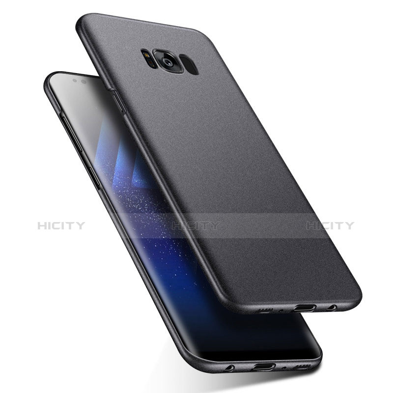 Handyhülle Hülle Kunststoff Schutzhülle Matt P03 für Samsung Galaxy S8 Plus Schwarz groß