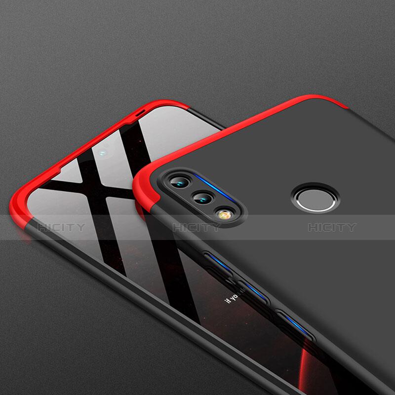 Handyhülle Hülle Kunststoff Schutzhülle Matt Vorder und Rückseite 360 Grad Q01 für Huawei P Smart (2019) Rot und Schwarz groß