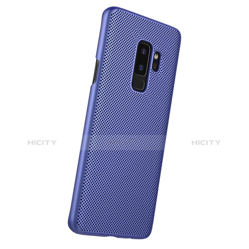 Handyhülle Hülle Kunststoff Schutzhülle Punkte Loch für Samsung Galaxy S9 Plus Blau groß