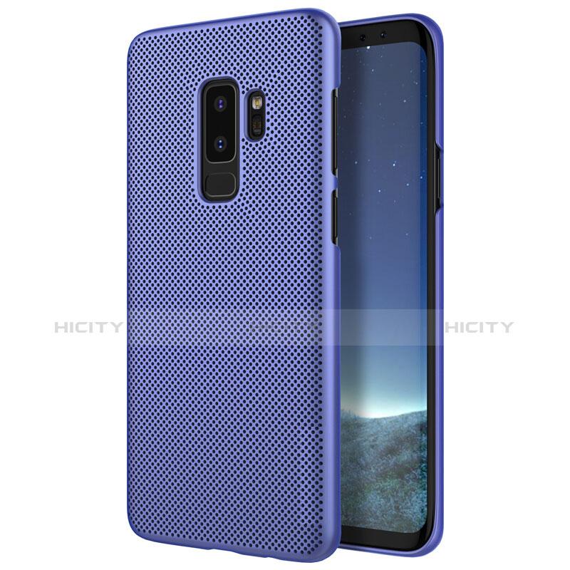 Handyhülle Hülle Kunststoff Schutzhülle Punkte Loch M01 für Samsung Galaxy S9 Plus Blau Plus