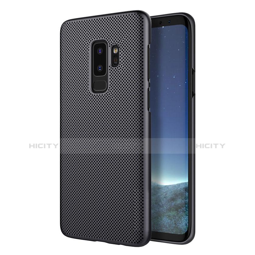 Handyhülle Hülle Kunststoff Schutzhülle Punkte Loch M01 für Samsung Galaxy S9 Plus Schwarz Plus