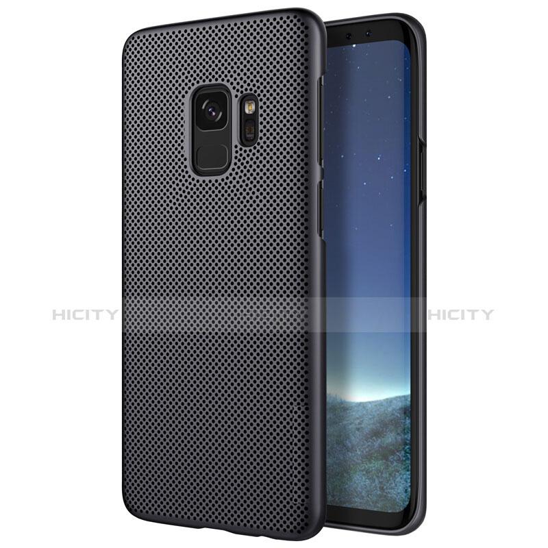 Handyhülle Hülle Kunststoff Schutzhülle Punkte Loch M01 für Samsung Galaxy S9 Schwarz Plus