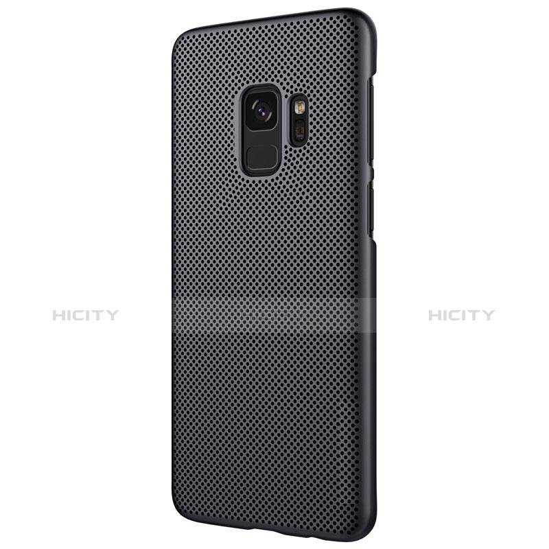 Handyhülle Hülle Kunststoff Schutzhülle Punkte Loch M01 für Samsung Galaxy S9 Schwarz groß