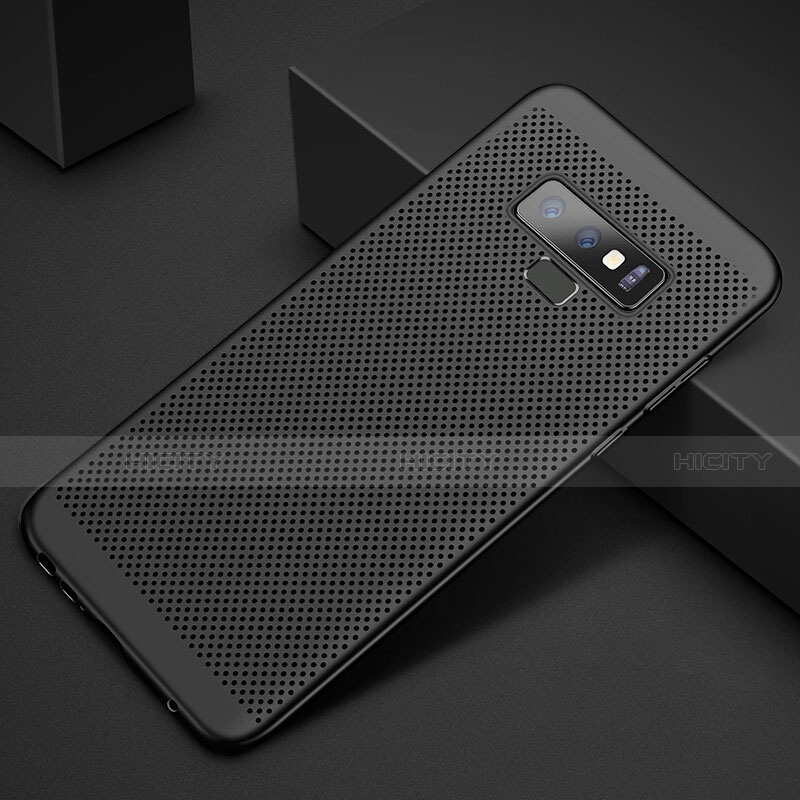 Handyhülle Hülle Kunststoff Schutzhülle Punkte Loch Tasche für Samsung Galaxy Note 9 Schwarz Plus